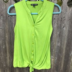 Cable & Gauge Sleeveless Top